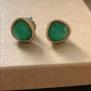Lia Sophia Green and gold stud earrings